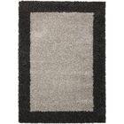 Emesa Gray/Charcoal Area Rug Rug Size: Rectangle 3'11