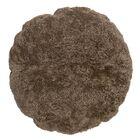 Ouzts Sheep Fur Throw Pillow Color: Nougat