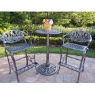 Farrior 3 Piece Bar Height Dining Set Finish: Antique Pewter