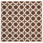 Brunswick Wool Brown/Ivory Area Rug Rug Size: Square 8'