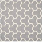 Harbin Silver/Ivory Area Rug Rug Size: Square 8'