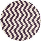 Averett Hand-Tufted Wool Purple/Ivory Area Rug Rug Size: Rectangle 9' x 9'