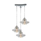 Toothman 3-Light Pendant Finish: Polished Chrome