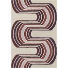 Oritz Hand Tufted Wool Cream/Lavender Area Rug Rug Size: 8' x 10'