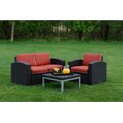 Loggins 3 Piece Sofa Set with Cushions