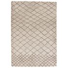 Casner Hand-Tufted Cloud Cream/Chocolate Chip Area Rug Rug Size: Rectangle 2' x 3'