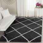 Humberto Shag Dark Grey/Ivory Area Rug Rug Size: Rectangle 6' x 9'