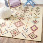 Kleio Hand-Tufted Ivory Area Rug Rug Size: Rectangle 6' x 9'
