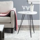 Motta End Table Color: White & Black