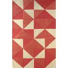 Lueras Hand-Tufted Sorbet/Ivory Area Rug Rug Size: Rectangle 6' x 9'