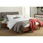Smallwood Upholstered Platform Bed Color: Light Beige, Size: Queen
