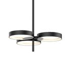 Tayler 3-Light Geometric Chandelier Finish: Satin Black/White
