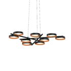 Tayler 9-Light Geometric Chandelier Finish: Satin Black/Apricot