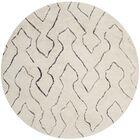 Elderton Ivory Area Rug Rug Size: Round 6'