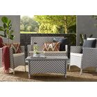 Mckeever 4 Piece Sofa Set with Cushions Color: Gray / White