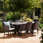 Callidora Outdoor 7 Piece Dining Table Set with Cushions Color: Brown