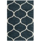 Humberto Shag Blue/Beige Area Rug Rug Size: Rectangle 4' x 6'