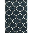 Humberto Shag Blue/Beige Area Rug Rug Size: Rectangle 5'1
