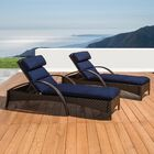 Cumberland Contemporary Reclining Chaise Lounge with Cushion Cushion Color: Navy Blue