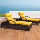 Cumberland Contemporary Reclining Chaise Lounge with Cushion Cushion Color: Sunflower Yellow