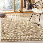 Kelston Brown/Camel Chevron Outdoor Area Rug Rug Size: Rectangle 5'1