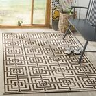 Horne Cream/Brown Area Rug Rug Size: Rectangle 5'1