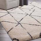 Tefft Shag/Flokati Synthetic Ivory/Blue Indoor Area Rug Rug Size: Rectangle 8' x 10'