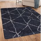 Tefft Blue/Ivory Area Rug Rug Size: Rectangle 8' x 10'