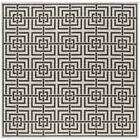 Kallias Light Gray Lattice Area Rug Rug Size: Square 6'7