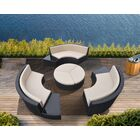 Wade 9 Piece Rattan Sectional Seating Group with Cushions