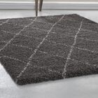 Tefft Charcoal/Ivory Area Rug Rug Size: 7'9