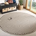Kallias Contemporary Gray/Beige Area Rug Rug Size: Round 6'7