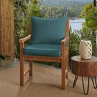 Indoor/Outdoor Lounge Cushion Color: Teal