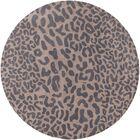Macias Handmade Gray Animal Print Area Rug Rug Size: Rectangle 4' x 6'