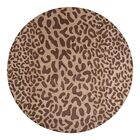 Macias Hand-Woven Tan Area Rug Rug Size: Round 4'