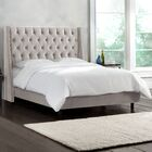 Beesley Upholstered Panel Bed Size: California King, Color: White