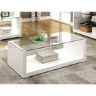 Merrill Glossy-Finish Coffee Table Color: White