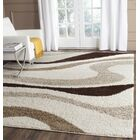 Driffield Ivory / Brown Area Rug Rug Size: Rectangle 6' x 9'