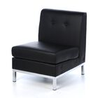 Buschwick Slipper Leather Guest Chair Upholstery: Black