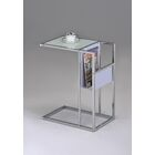 Leonis End Table Color: White / Chrome