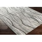 Aurora Abstract Hand-Tufted Gray Area Rug Rug Size: Runner 2'6