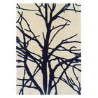 Parker Hand-Tufted Cream/Charcoal Area Rug Rug Size: Rectangle 8' x 10'