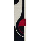 Miller Hand-Tufted Black/Red Area Rug Rug Size: Runner 2'3