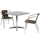 Mclendon Square 3 Piece Bistro Set Table Size: 27.25