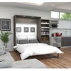 Medan Premium Murphy Bed Size: Queen, Color: Bark Gray
