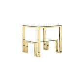 Ellesmere End Table Color: Gold Luster