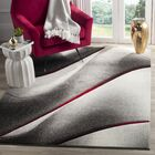 Anne Gray/True Red Area Rug Rug Size: Square 5'3