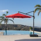 Griggsville 10' Cantilever Umbrella Fabric: Red