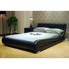 Leavitt Upholstered Platform Bed Size: California King, Color: Black