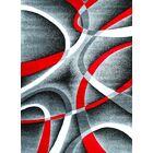 Cherine Modern Gray Area Rug Rug Size: Rectangle 7'10
